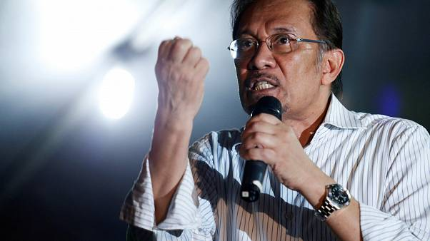 FILE PHOTO Anwar Ibrahim speaks during election campaign Kuala Lumpur 2013