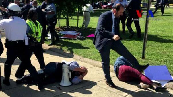 Washington'daki koruma şiddeti nedeniyle Türkiye'ye dava