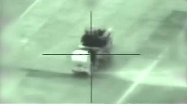 الجيش الإسرائيلي ينشر فيديو تدمير أهداف وبطاريات صواريخ سورية