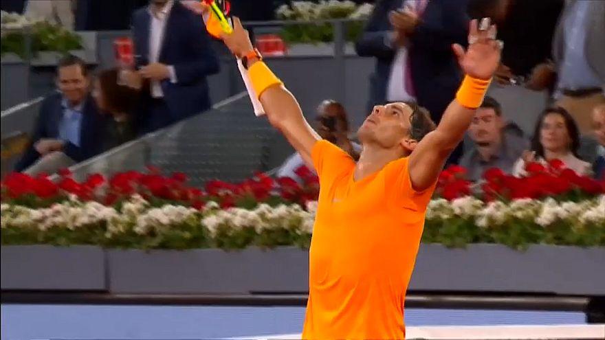 Madrid : Nadal file en quarts et bat le record de McEnroe