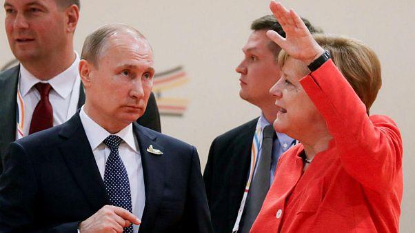 مذاکره پوتین و مرکل