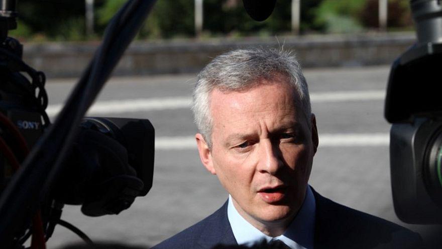 وزير المالية الفرنسي برونو لومير في بلغاريا يوم 27 أبريل/نيسان 2018