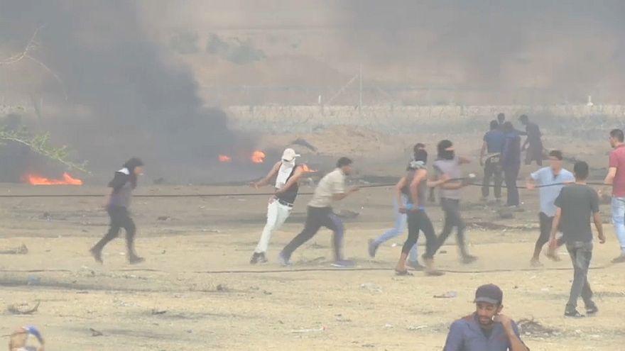 Gazze Şeridi'nde İsrail protestosu