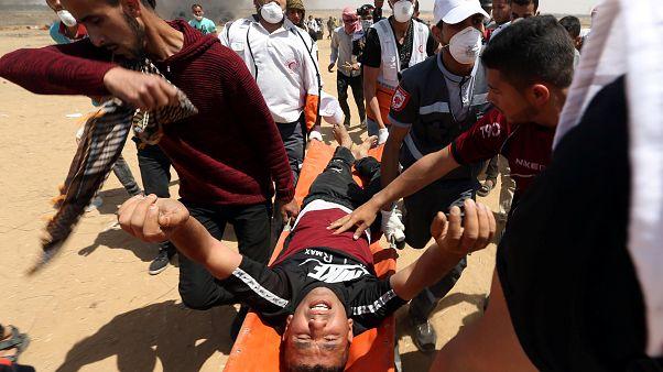قتلى وجرحى في صفوف الفلسطينيين في احتجاجات مسيرة العودة