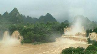 Chine : chutes d'eau spectaculaires