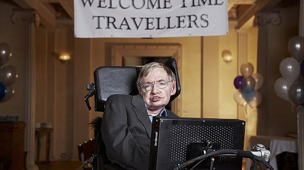 Stephen hawking's Time Travellers' Party in 2009