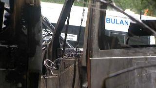 شاهد: اشتعال 35 سيارة إسعاف في مقاطعة الباسك الإسبانية
