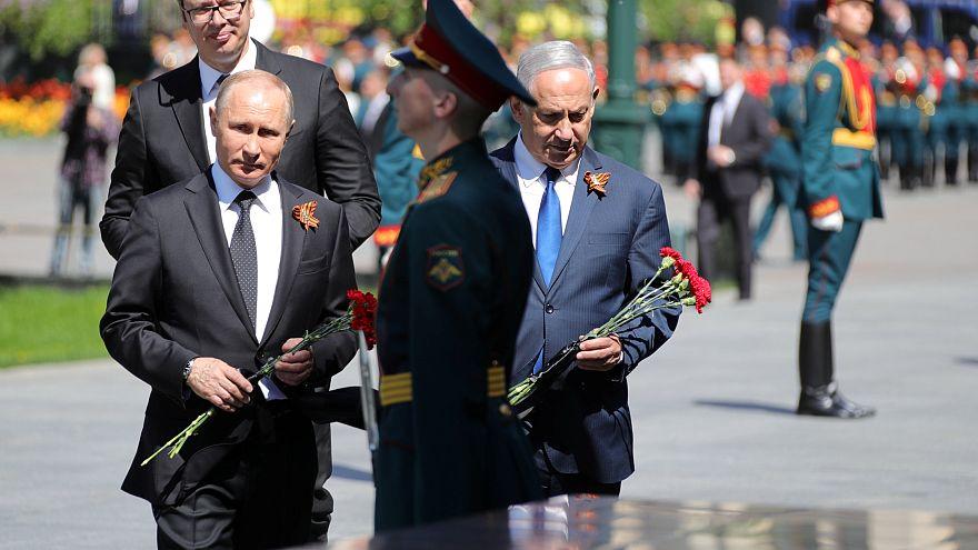 ترامپ و نتانیاهو در مراسم ۹ ماه مه، سالروز پیروزی ارتش سرخ بر آلمان نازی
