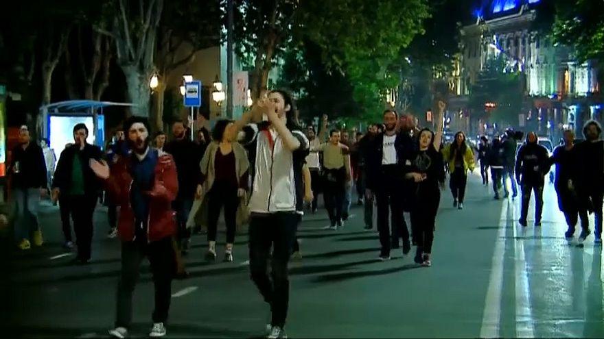 Антиправительственные протесты в Грузии