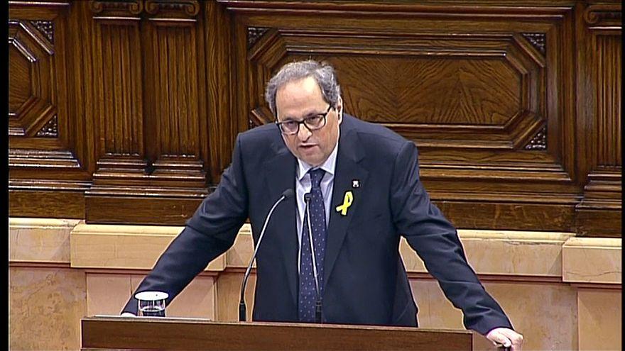 El independentista Quim Torra tendrá que esperar al lunes para ser presidente de la Generalitat
