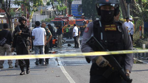 A series of church bombings killed at least 6 people in Indonesia on May 13