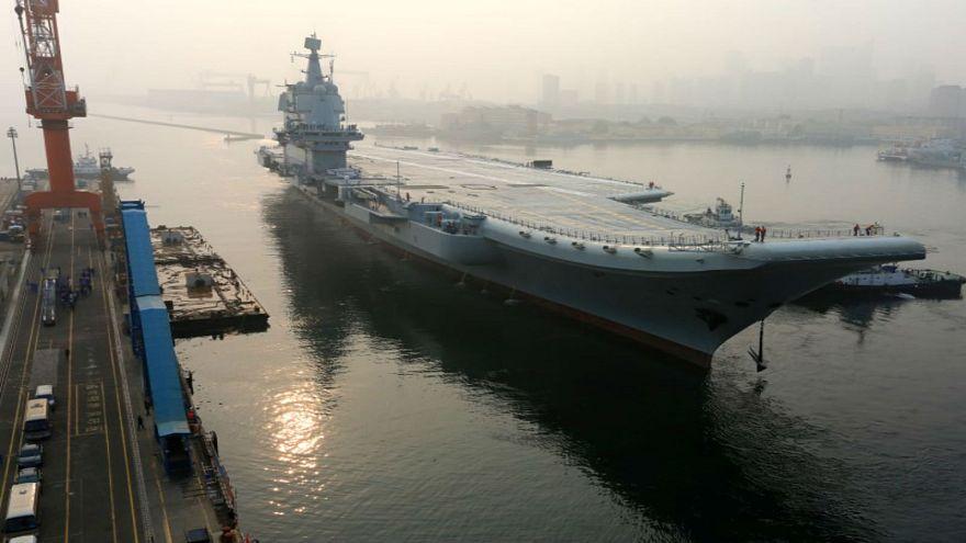 شاهد: إبحار أول حاملة طائرات صينية الصنع