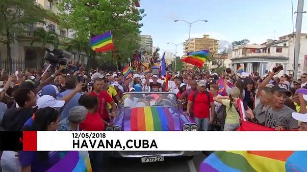El colectivo LGTBI de Cuba reclama más derechos al ritmo de una conga