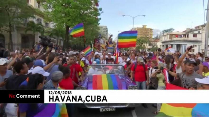 کارناوال روز مقابله با همجنسگراهراسی در هاوانا پایتخت کوبا