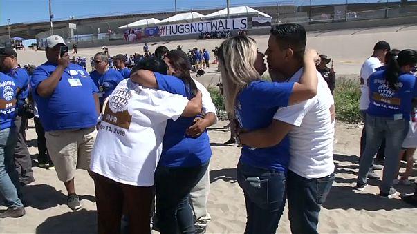 Abrazos en vez de muros en la frontera de México