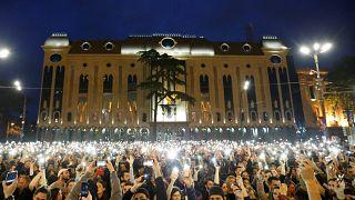 Молодёжные протесты в Тбилиси