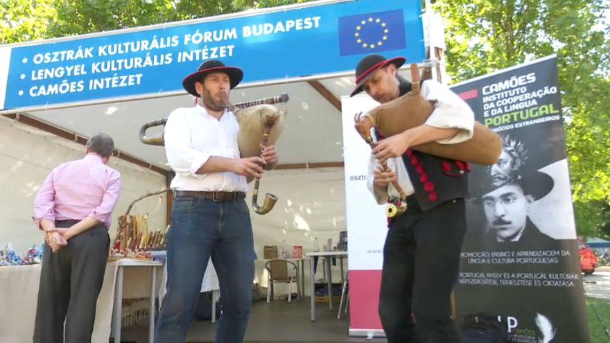 Eurosceptic Hungary marks EU Day