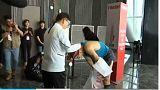 Güney Kore'nin en yüksek binasında merdiven çıkma yarışması