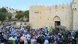 Ünneplés és tiltakozás Jeruzsálem napján
