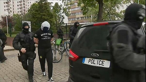 Il momento di uno degli arresti a Strasburgo