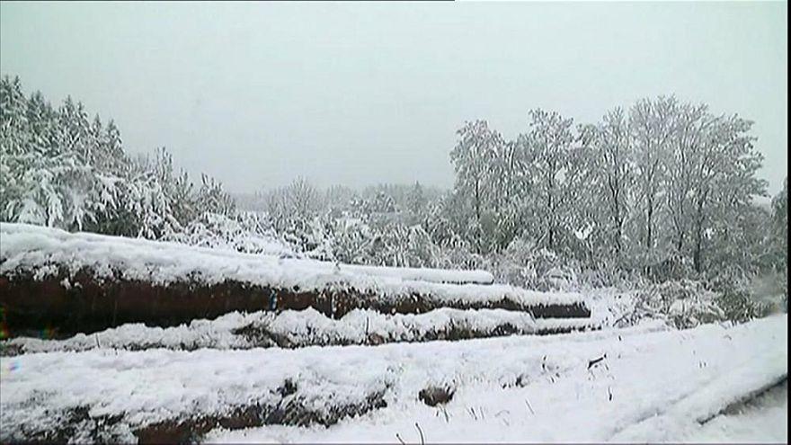 Májusi havazás Franciaországban