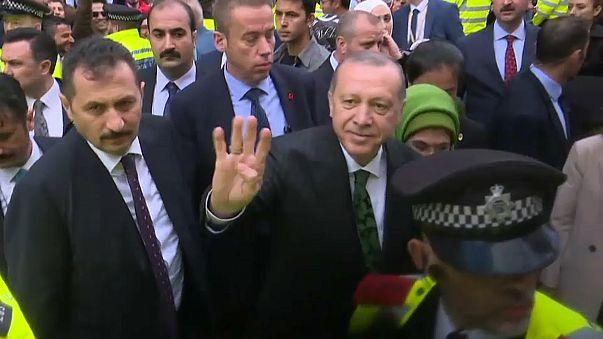 Erdogan begins three-day visit to Britain