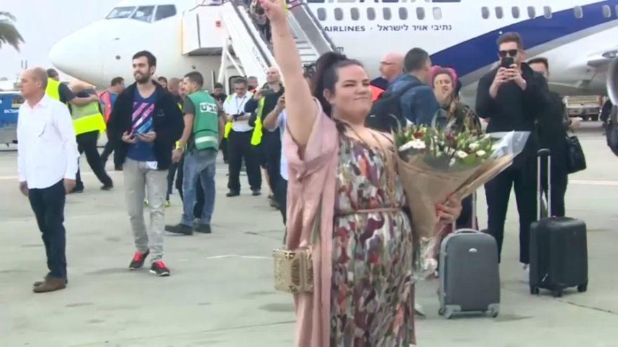 Israel recibe triunfante a la ganadora de Eurovisión