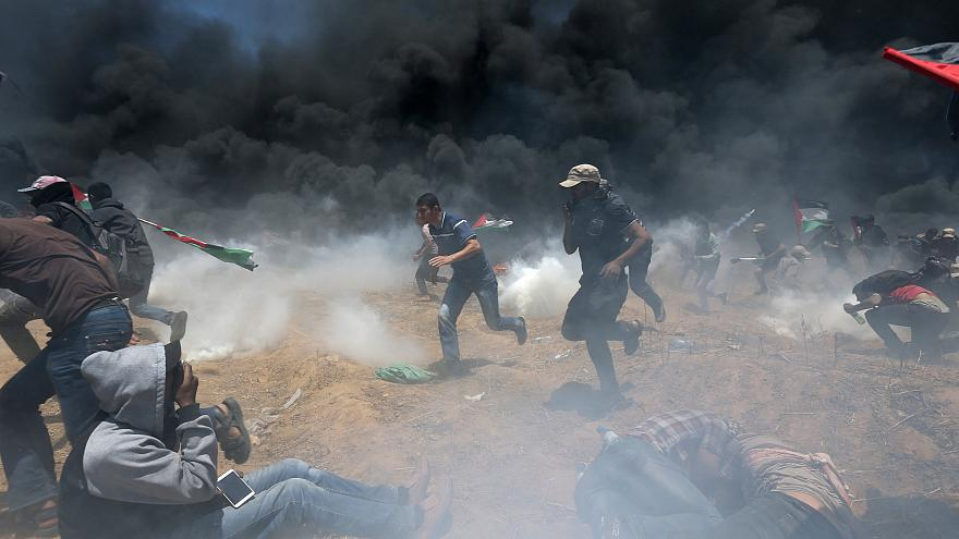 Dezenas de mortos em confrontos na Faixa de Gaza