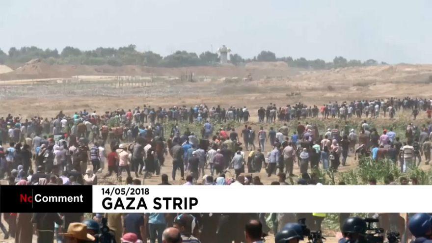 شاهد: قنابل ورصاص حي لمواجهة المتظاهرين في غزة بيوم النكبة
