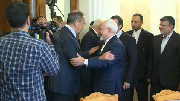 Sergei Lavrov greets Javad Zarif