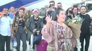 Eurovision winner Netta Barzilai lands in Israel