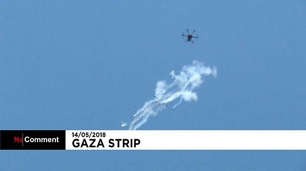 İsrail'den İHA'larla gaz bombası saldırısı