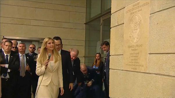 إيفانكا ترامب خلال مراسم افتتاح سفارة بلادها في القدس