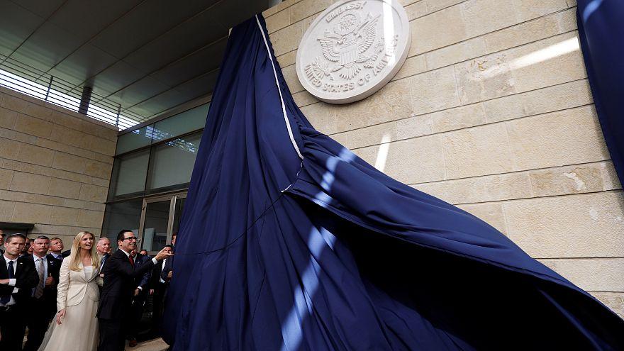 شاهد: إيفانكا ومنوتشين يدشنان مقر السفارة الأمريكية في القدس