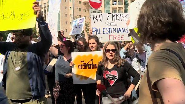 Protestas en Jerusalén contra la embajada estadounidense