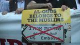 مظاهرة في اسطنبول تندد بنقل السفارة الاميركية الى القدس الشرقية