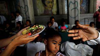 Reparto de alimentos durante la campaña en Caracas