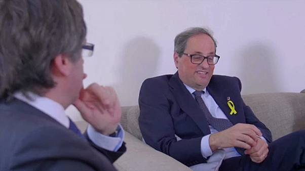Berlinbe látogatott elődjéhez az új katalán elnök