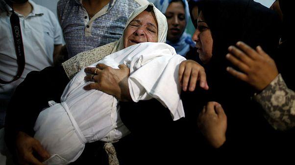 body of 8-month-old Palestinian infant Laila al-Ghandour