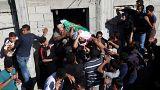 من تشييع الجنائز اليوم في قطاع غزة
