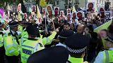 Los kurdos protestan en Londres contra Erdogan