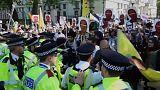 شاهد: مواجهات بين أنصار إردوغان ومعارضيه وسط لندن!