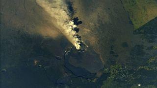 Χαβάη: Καπνός και λάβα από το ηφαίστειο Κιλαουέα