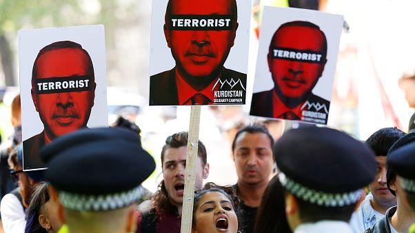 Londres em alerta com visita de Erdogan