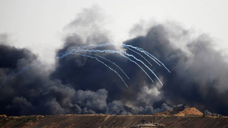 Israeli forces on the border with Gaza