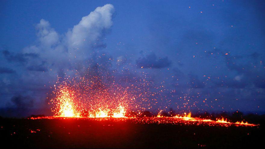 فعالیت آتشفشان کیلاویا در جزایر هاوایی و تخلیه مناطق مسکونی