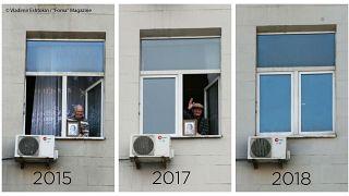 La ventana que cierra el final de una época: la peculiar historia del hombre con un retrato