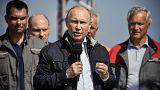 Russland eröffnet umstrittene Brücke zur Krim