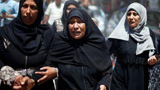 Gyászolnak a palesztinok a hétfői vérontás után