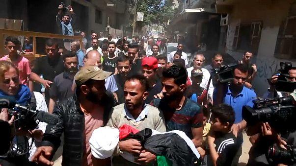 Gazze: Leyla bebek son yolculuğuna uğurlandı
